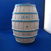 Papier Mache Advertisement Bank &quot;James Salt Water Taffy&quot;