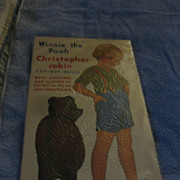 Winnie the Pooh Christopher  Robin cut-out dolls book  Many costumes and clothes to cut ...