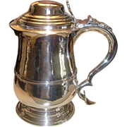 1744 George II Silver Tankard Thomas Laurence