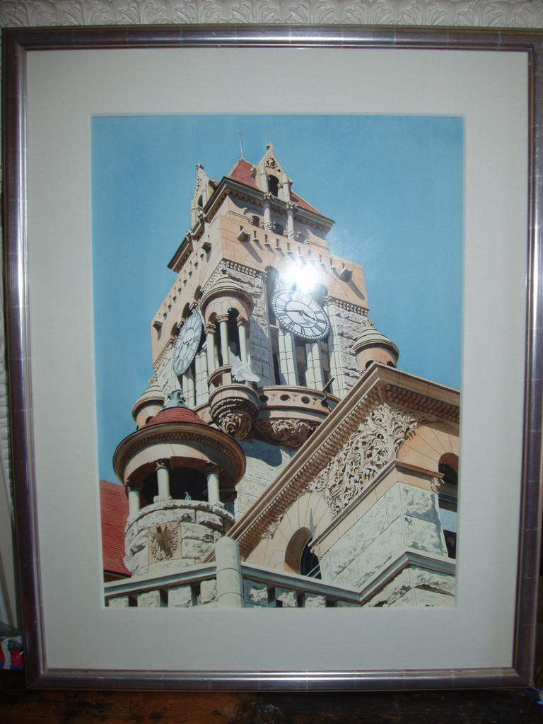 "Herb Rather Watercolor on Paper ""Courthouse Tower"""