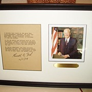 Gerald Ford Signed Excerpt of Swearing In Speech