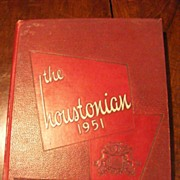 SALE 1951 University of Houston Yearbook - The Houstonian