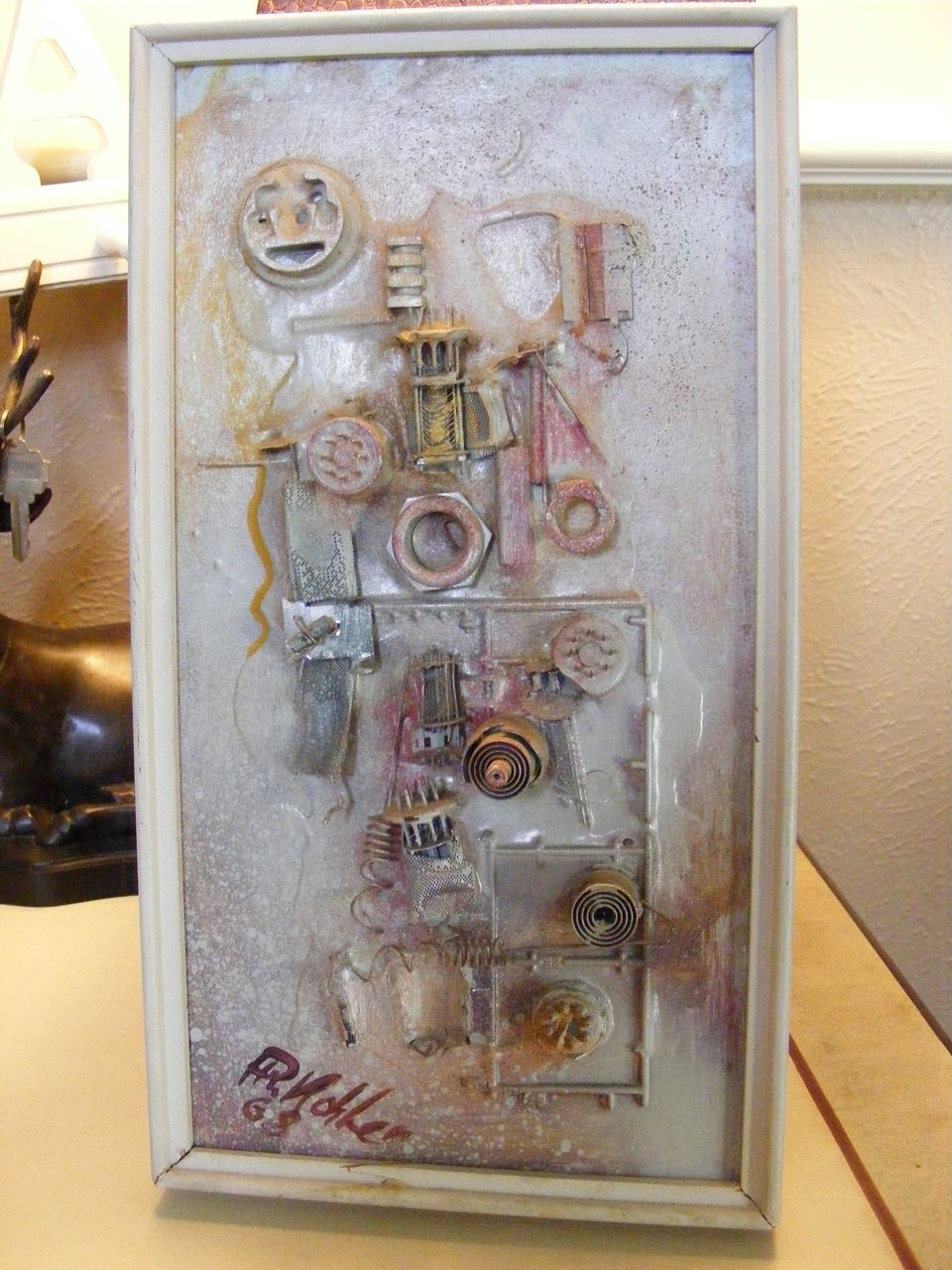 1968 Signed and Dated Mixed Media Painting