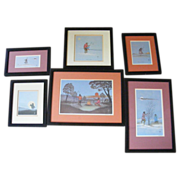 Group of 6 Vintage Johnnie Tiger Indian Prints 1972 - 1974