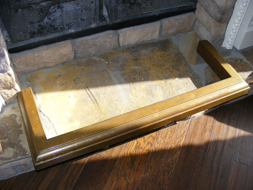 Antique Brass Fireplace Fender From E3antiques On Ruby Lane