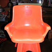 SALE Vintage 1975 Child's Swivel Chair by Empire Toys