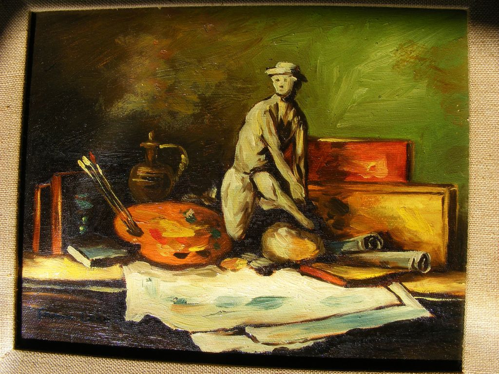 Frank Lean Oil Painting 1972