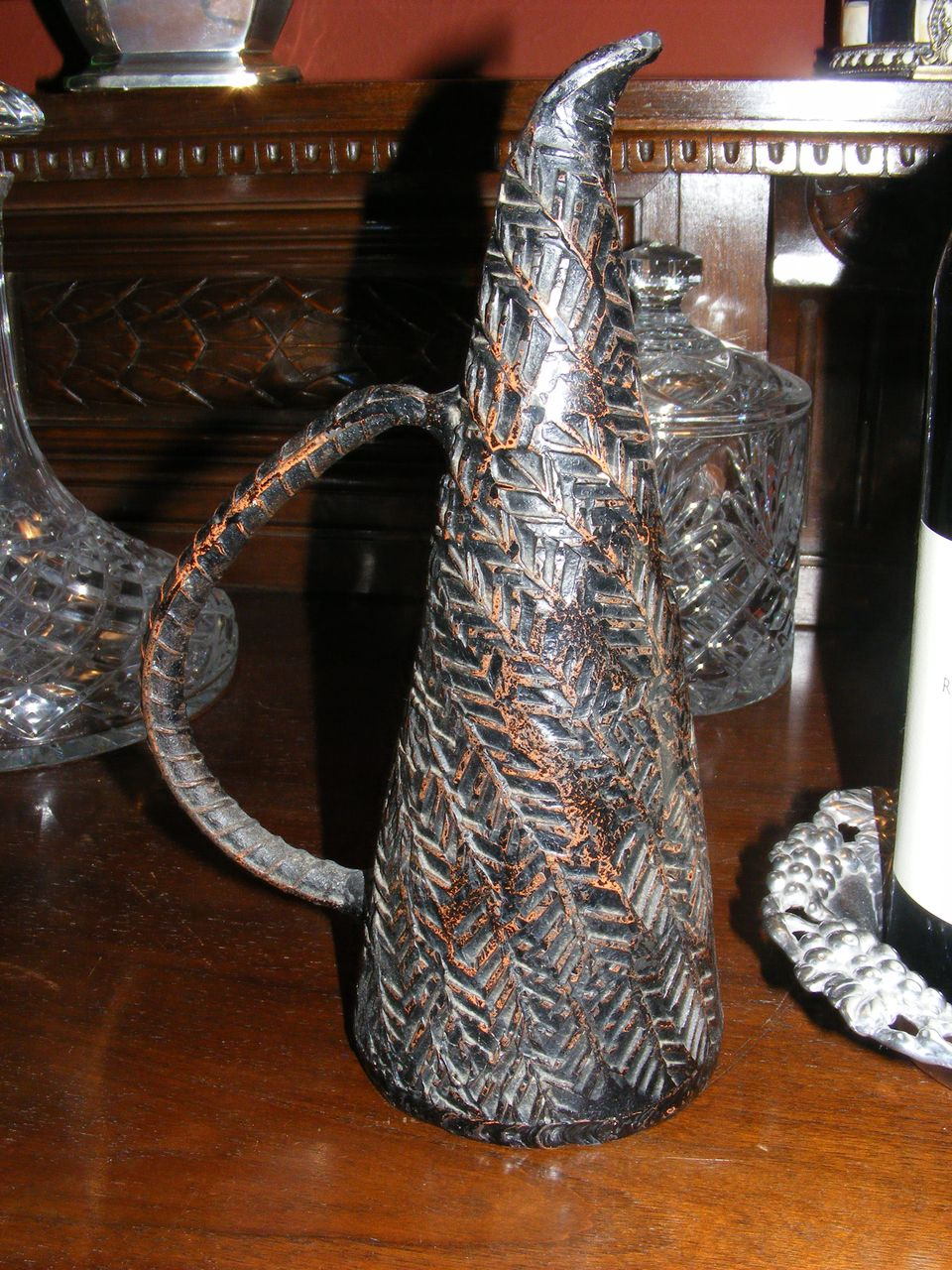 Interesting Object d'Art Iron Jug Sculpture