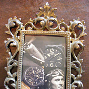 19th Century Ornate Baroque Bronze Picture Frame