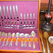 53 piece Set of Wallace Sterling Silver Flatware Stradivari