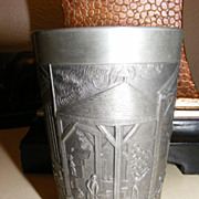 Vintage Pewter Cup - Degussa - Das Atelier Porcelain Factory Floor Scene