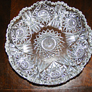 Beautiful Low Cut American Brilliant Period Crystal Bowl