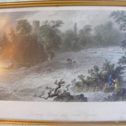 Hand Colored Engraving Dunass Rapids near Castleconnell 1898
