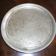 Antique Pewter Hotel SIlver Tray - marked