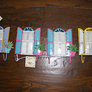 Set of 4 Tropical Beach House Hand Made and Hand Painted Towel Hooks