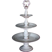 19th century French Porcelain 3-Tier Cake / Petit Fours Stand - Napoleon III