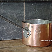 Victorian 19th Century English Benham & Froud COPPER Saucepan - 1 Pint.