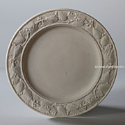 Antique 19th Century English Parian Ware Plate  - Victorian