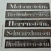 Vintage Zinc Metal Stencils - Salvaged Industrial Elements