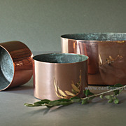 19th Century English Copper Pudding Molds