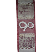 19th Century Victorian English Darning & Stitch Sampler