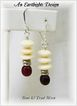 White Bone & Red Horn Dangle Earrings - Africa Collection