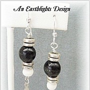 White Bone & Wood Dangle Earrings - Africa Collection