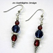 Swarovski Crystal/Sterling Silver Earrings