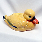 Vintage Goebel Chubby Yellow Duck Bank