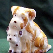 Occupied Japan Porcelain Pair of Dogs