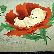 1913 Linen Kewpie Pillow Top for Embroidery