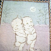 Rose O'Neill Kewpie Tobacco Flannel Skating