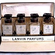 Vintage Mini Set of 4 Lanvin Perfumes in Original Box