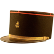 Vintage Black Wool & Gold Banded French Marine Kepi Hat