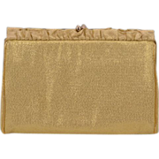 So-Chic Shimmery Gold ca 1950's Harry Levine Evening Bag