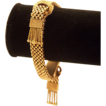Victorian 14K Solid Gold Mesh Unusual Tassel Bracelet Foxtail Fringe