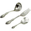Dazzling 3-Piece Gorham Sterling Silver Servingware Set 202 gms.!