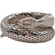 Single-Coil Whiting & Davis Snake Bracelet