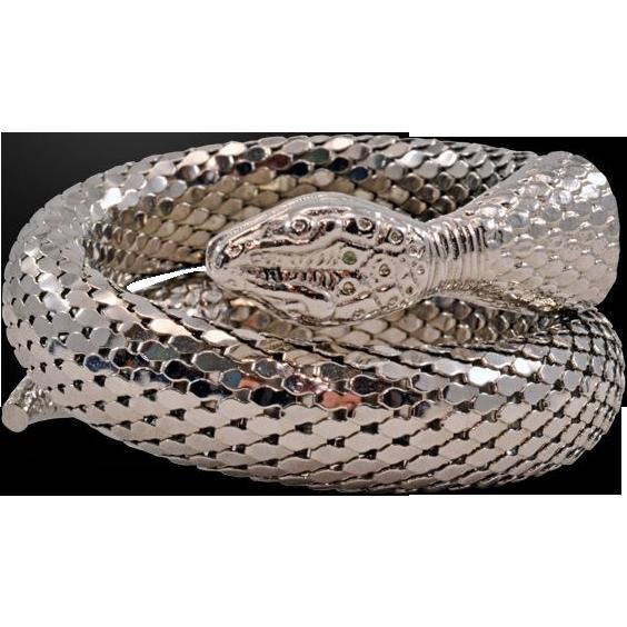 Single Coil Whiting Amp Davis Snake Bracelet From