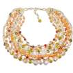 Timeless Schiaparelli 9-Strand Beaded Necklace in Sunset Colors