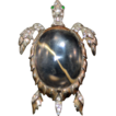 Sterling Crown Trifari Jelly Belly Sea Turtle Brooch Alfred Phillipe