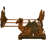 Rare and Beautiful Judd Company Camel Cast Iron Book Rack ca.1920