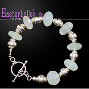 OOAK Davison Top Quality Peruvian Chalcedony and Sterling Bracelet