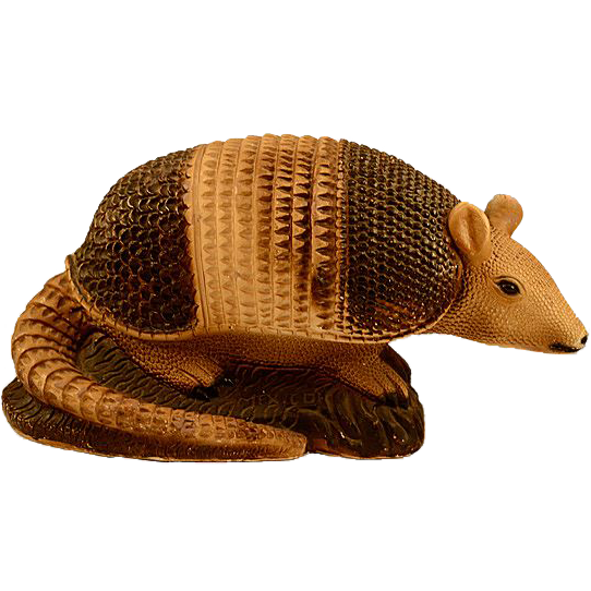 Vintage Armadillo Chalkware Bank
