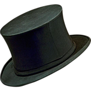 Elegant Antique Stetson 1800's Collapsible Top Hat