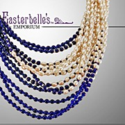 Stunning Signed Miriam Haskell 11-Strand Necklace Blue and White