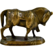 Antique Small Brass Brahma Bull Statue with Wonderful Patina