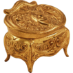 Spelter Art Nouveau Jewel Casket with Egyptian Revival Motif