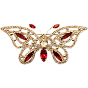 Bling A Ding Eisenberg ICE Brooch in the Shape of a Butterfly