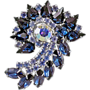Gorgeous, Glittering Vintage Rhinestone &quot;Spiral&quot; Brooch